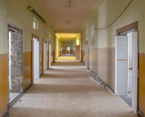 Rückbau im Inneren des alten Puschkin-Gymnasiums 1