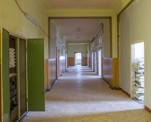 Rückbau im Inneren des alten Puschkin-Gymnasiums 2