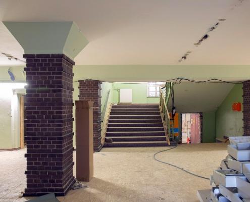 Rückbau im Inneren des alten Puschkin-Gymnasiums 3