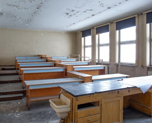 Rückbau im Inneren des alten Puschkin-Gymnasiums 7