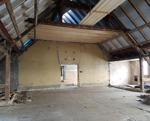 Sanierung und Verstärkung des Daches 2