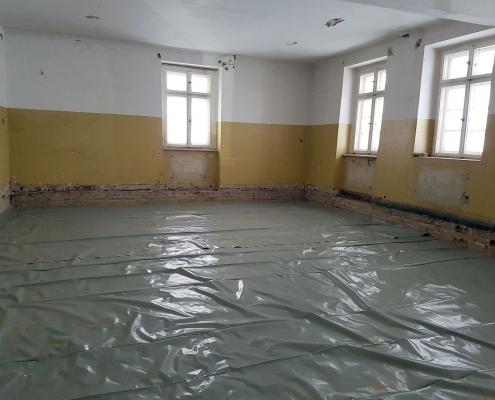 Einbau der Fußböden 2