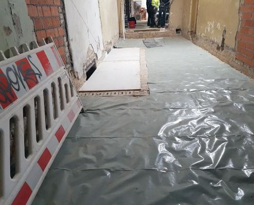 Einbau der Fußböden 1