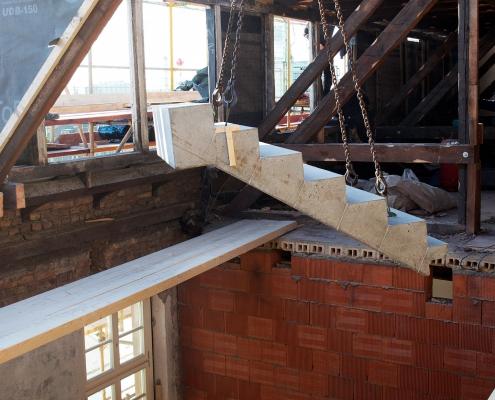 Einbau der Treppen 4
