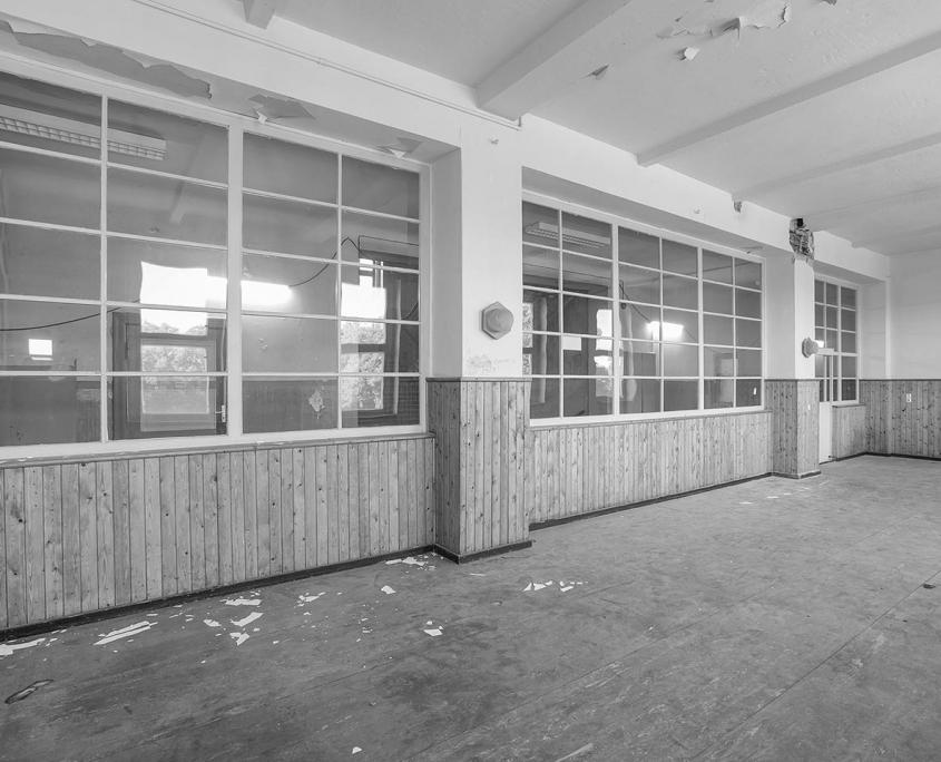 schwarz/weiß Bild vom alten Innenbereich