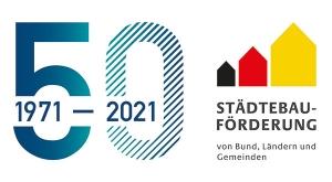 50 Jahre Städtebaufoerderung Logo
